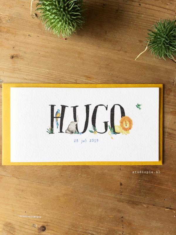 Geboortekaartje Hugo! Leeuwjungle