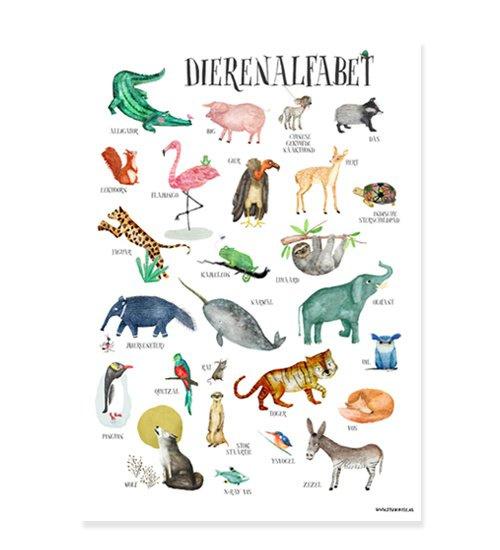 poster dieren ABC  - A4 alfabetposter