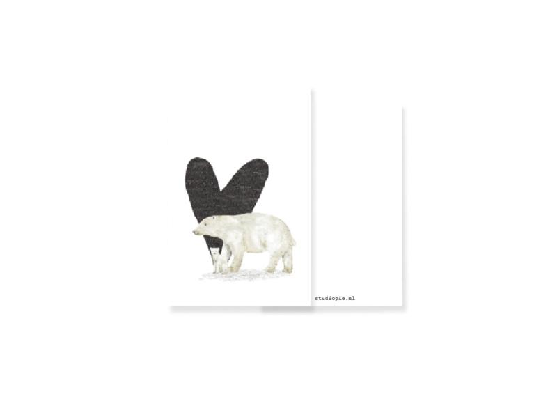 Lief minikaartje ijsberen | per 5