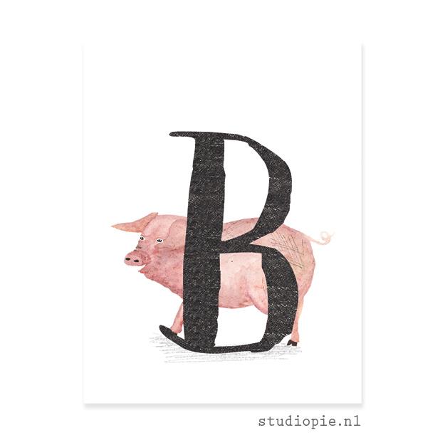 de B van BIG | letterkaartje