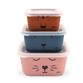 Jollein | Snackbox Bamboe Animal Club (3 stuks)