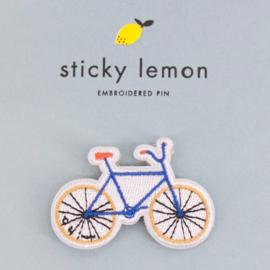 Sticky Lemon geborduurde broche Fiets