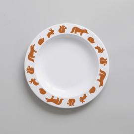 Buddy and Bear melamine bord Bosdieren (kaneel / roestbruin)