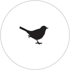 Label-R | Muurcirkel Vogel Wit