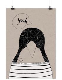 Studio Rainbow Prints - A3 Poster Pinquin 'Yeah'