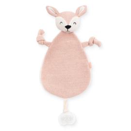 Jollein | Knuffeldoekje / Speendoekje Deer (pale pink)