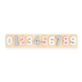 Jollein | Houten Puzzel Cijfers (wit / grijs / roze)