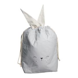Fabelab | Opbergzak speelgoed Bunny Ice Grey (40 x 60 cm)
