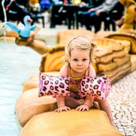 THE ESSENTIALS | Zwembandjes Panterprint 0-2 jaar