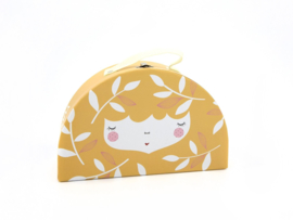 Yuunaa | Kartonnen Koffertje Flower Face Geel - Klein