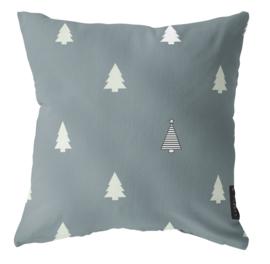 Label-R | Buitenkussen Kerstboom (grijs)