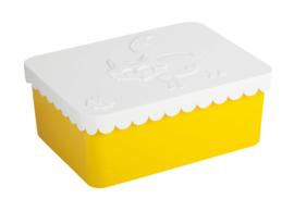 Blafre Lunchtrommel Vos (wit/geel)