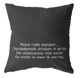 Label-R | Buitenkussen #wintergeluk (zwart)