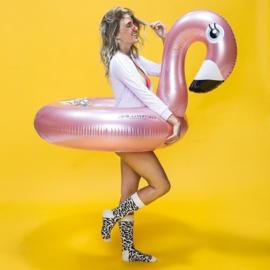 THE ESSENTIALS   Opblaasbare Zwemband Flamingo GROOT