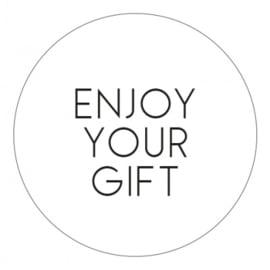 Sticker Enjoy your gift (wit/zwart)