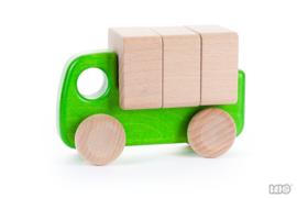 Bajo Houten Vrachtwagen met Blokken (groen)