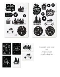 Zoedt | Set kerst cadeaukaartjes + cadeaustickers