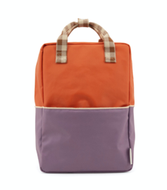 Sticky Lemon   Rugzak Groot Colourblocking (orange juice + plum purple + schoolbus brown)