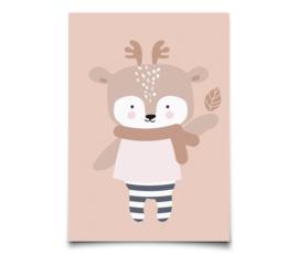 Eef Lillemor kerstkaart Winter Deer