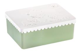 Blafre lunchtrommel IJsbeer (wit/groen)