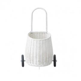 Olli Ella Luggy Basket Boodschappenwagen - Wit