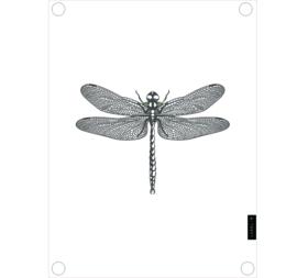 Label-R | Tuinposter Libelle (wit)