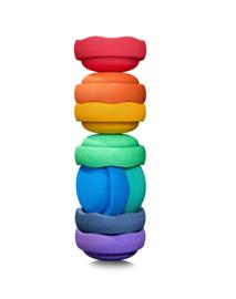 Stapelstein | Stapelstenen Regenboog Groot (8 stuks)