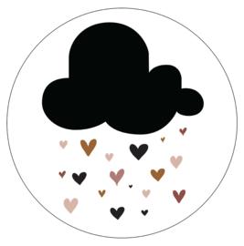 Label-R Kids | Muurcirkel Wolk met hartjes