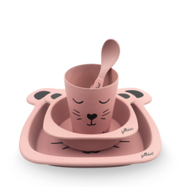 Jollein | Dinnerset Bamboe Animal Club Roze