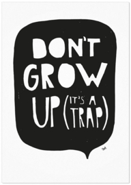 Studio Rainbow Prints - Kaart Don't Grow Up