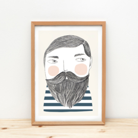 Depeapa Print Bearded Man (A4)