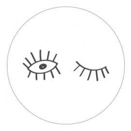 Sticker Eyes (wit/zwart)