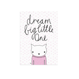 Studio Rainbow Prints - A5 Poster Dream Big Little One (roze)