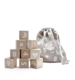 ooh noo houten blokken cijfers (wit)