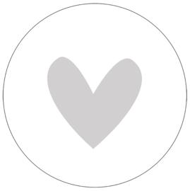 Label-R | Muurcirkel Hart Lichtgrijs