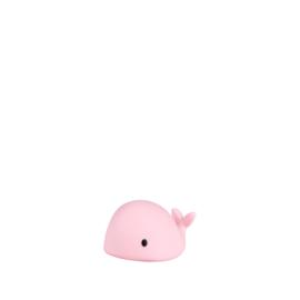 Flow | Moby Mini Led Nachtlampje Walvis (roze)