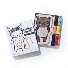 Wee Gallery | Rijgkaarten / Lacing Cards - Baby Animals