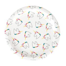 My Little Day papieren bordjes Unicorn/Eenhoorn (8 stuks)