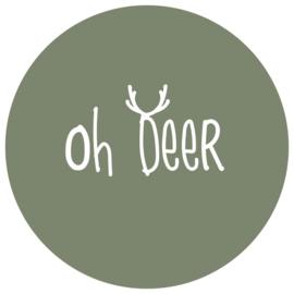 Label-R | Muurcirkel Oh Deer Olijfgroen