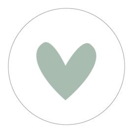Label-R | Muurcirkel Hart Mintgroen
