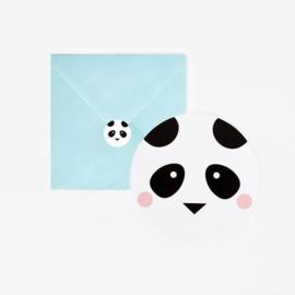 My Little Day | Uitnodigingen Panda (8 stuks)