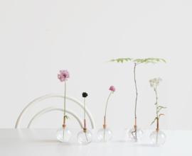 Scandinaviaform bloemenvaasje Consilium (wit)