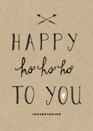 Funny Side Up - Poster Ho Ho Ho (A4)