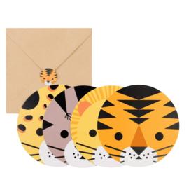 My Little Day uitnodigingen Wilde Katten (8 stuks)