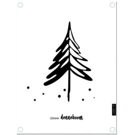 Label-R   Tuinposter Oh Denneboom (wit)