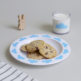 Buddy and Bear melamine beker Happy Clouds (blauw)