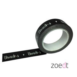Zoedt Masking tape Thanks