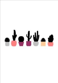 Ingrid Petrie Design - Cactus row print (A4)