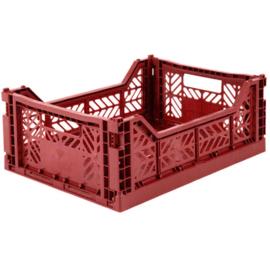 Ay-Kasa / Eef Lillemor | Opvouwbare krat Midi - Tile Red