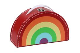 Kids Boetiek kartonnen koffertje Regenboog (rood)